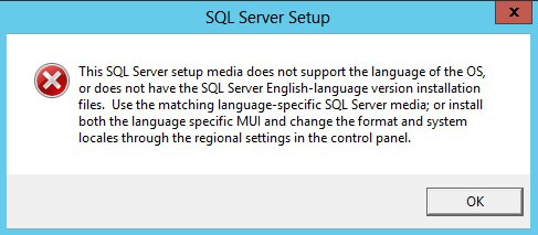 SQL Server 2017 Install - Oops and Language not supported Errors - FIX