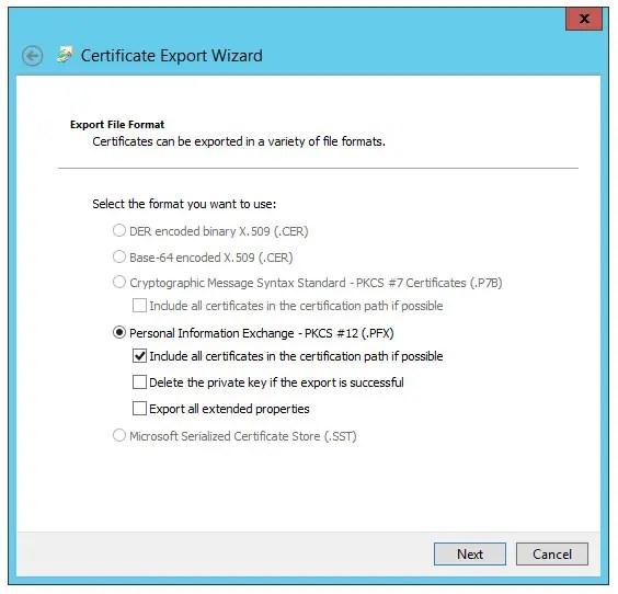 Windows e IIS - Come effettuare il backup di una CSR (e relativa chiave privata) in formato PFX