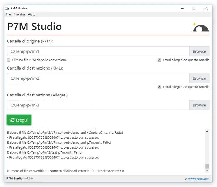 P7M Studio - Software di conversione file P7M (fattura elettronica) in XML ed estrazione dei file allegati