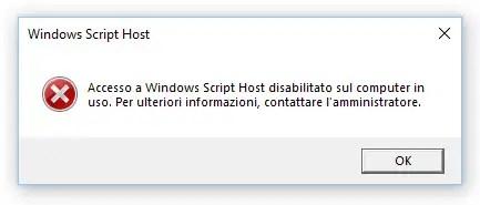 Disabilitare Windows Script Host (WSH) per bloccare i malware .VBS