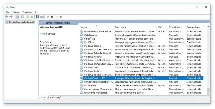 Create a Windows Service in ASP.NET C# - .NET Framework