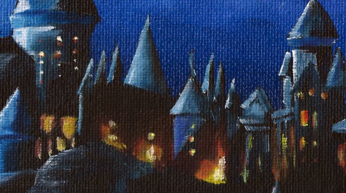 Hogwarts-castle-painting-detail