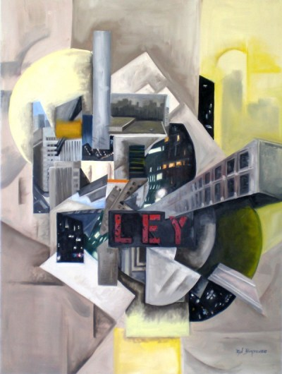 Ley - painting by Ryan Burdzinski