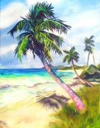 Palm Tree - painting by Ryan Burdzinski