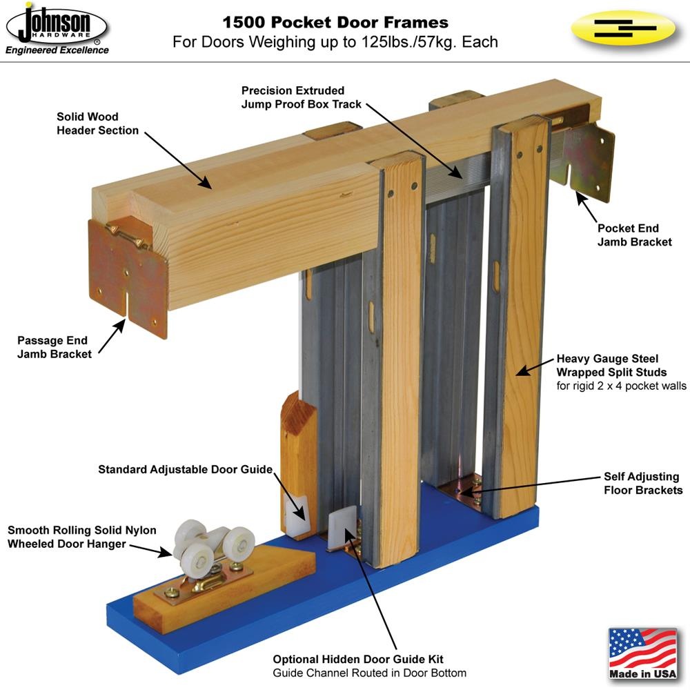 I Used The Pocket Door Frame Kit From LE Johnson . They Can Be Purchased On  Amazon. These Kits Are Far Superior To The Cheap Wooden Pre Built Frames  That ...