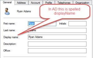 Query Active Directory DisplayName