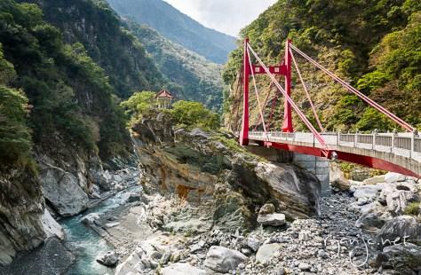 Cimu Bridge, Taroko National Park, Taiwan.