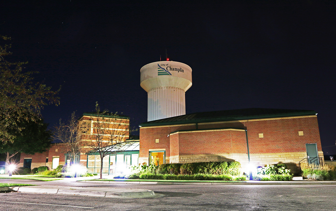City of Champlin City Hall Night Web