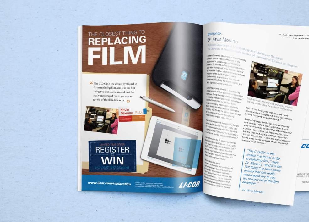 C-DiGit Replacing Film Magazine Ad Mock Up