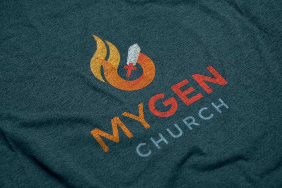 MYGEN Church logo screenprint