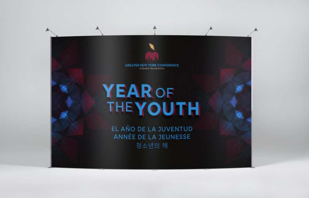 Year of the Youth Banner Display