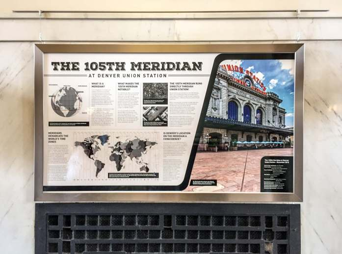 This graphic display in the Union Station lobby explains the 105th Meridian Project.