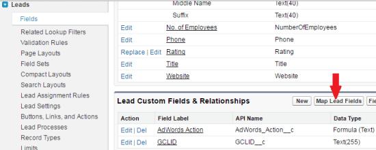 salesforce_adwords_integration_map_lead_field