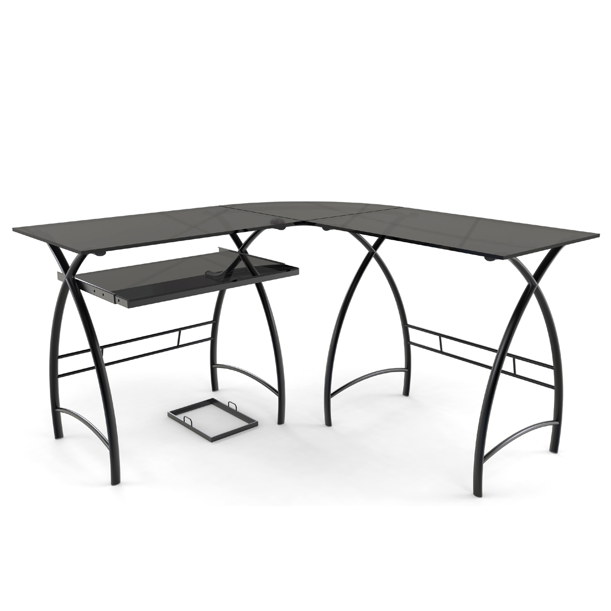 Stillman L Shaped Desk In Black