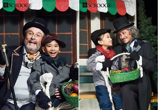 MIGUEL FAUSTMANN (Ebenezer Scrooge), GABO TIONGSON (Tiny Tim)