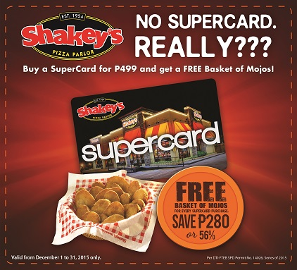 Shakey's SuperCard SuperPerks Promo