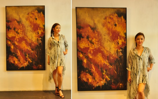 Rax Bautista with Painting Breast of Autumn - 2