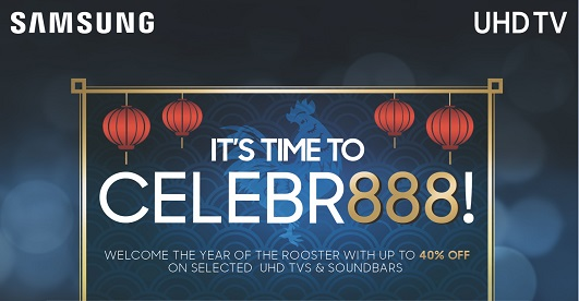 celebr888 chinese new year with a samsung uhd tv