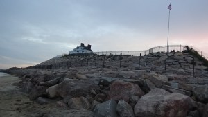 Taylor Swift's house, in Westerly, RI, and the new sea wall she built. (photo credit: Ryan Jacobson)