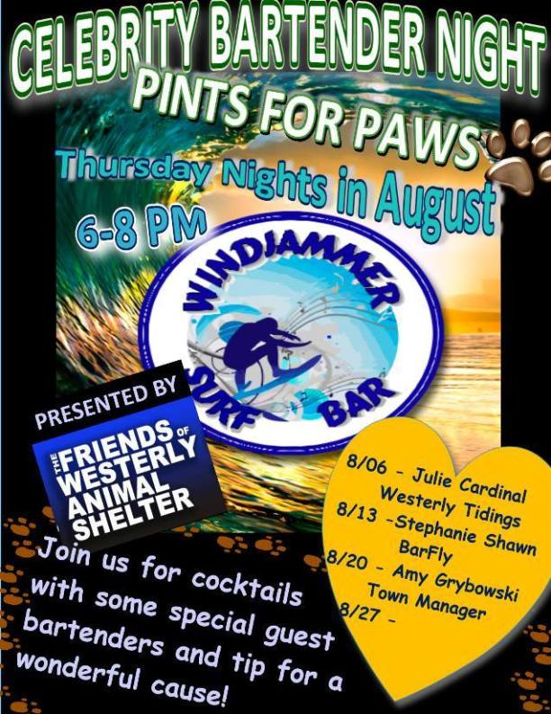 "The ""Pints for Paws"" flyer, which promotes the event."