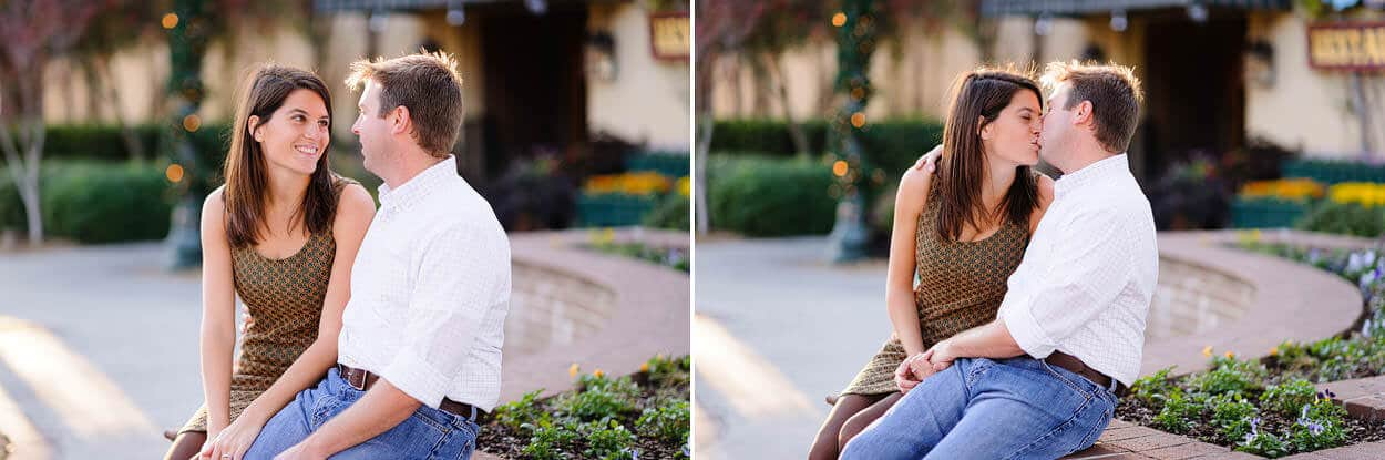 Sunset Engagement Pictures At The Historic Waterfront In