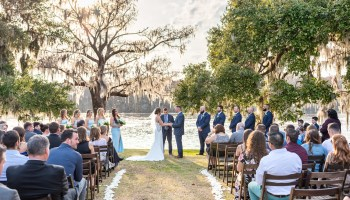 Beautiful ceremony by the river - Kimbels at Wachesaw Plantation