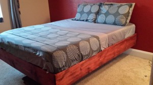 The casper mattress floating bed project is complete