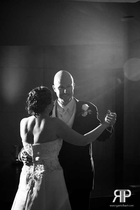 Bride and Groom first dance at w.o. smith