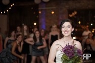 bride bouquet toss