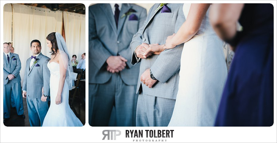 Wedding Ceremony holding hands