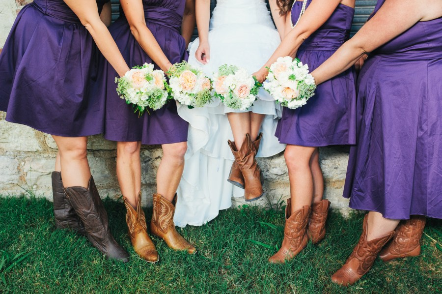 bridesmaids and boots