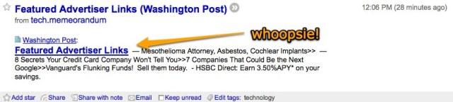 TechMeme + Washington Post