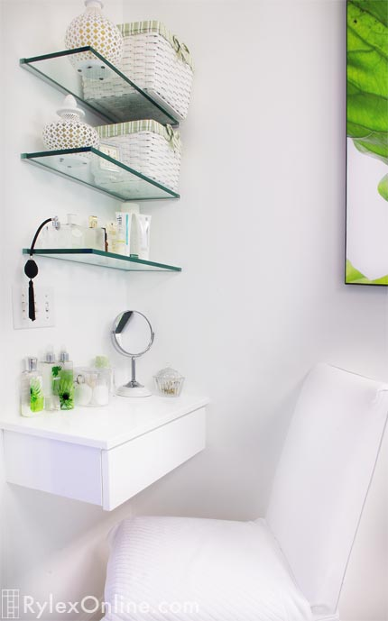 Bathroom Vanity Glass Shelves Warwick NY