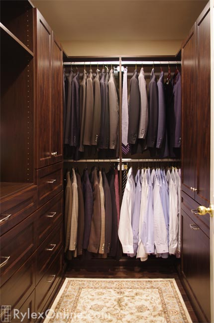 Mens Walk In Closet Warwick NY Rylex Custom Cabinetry Amp Closets