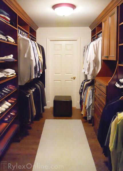 Mens Walk In Bedroom Closet Warwick NY Rylex Custom