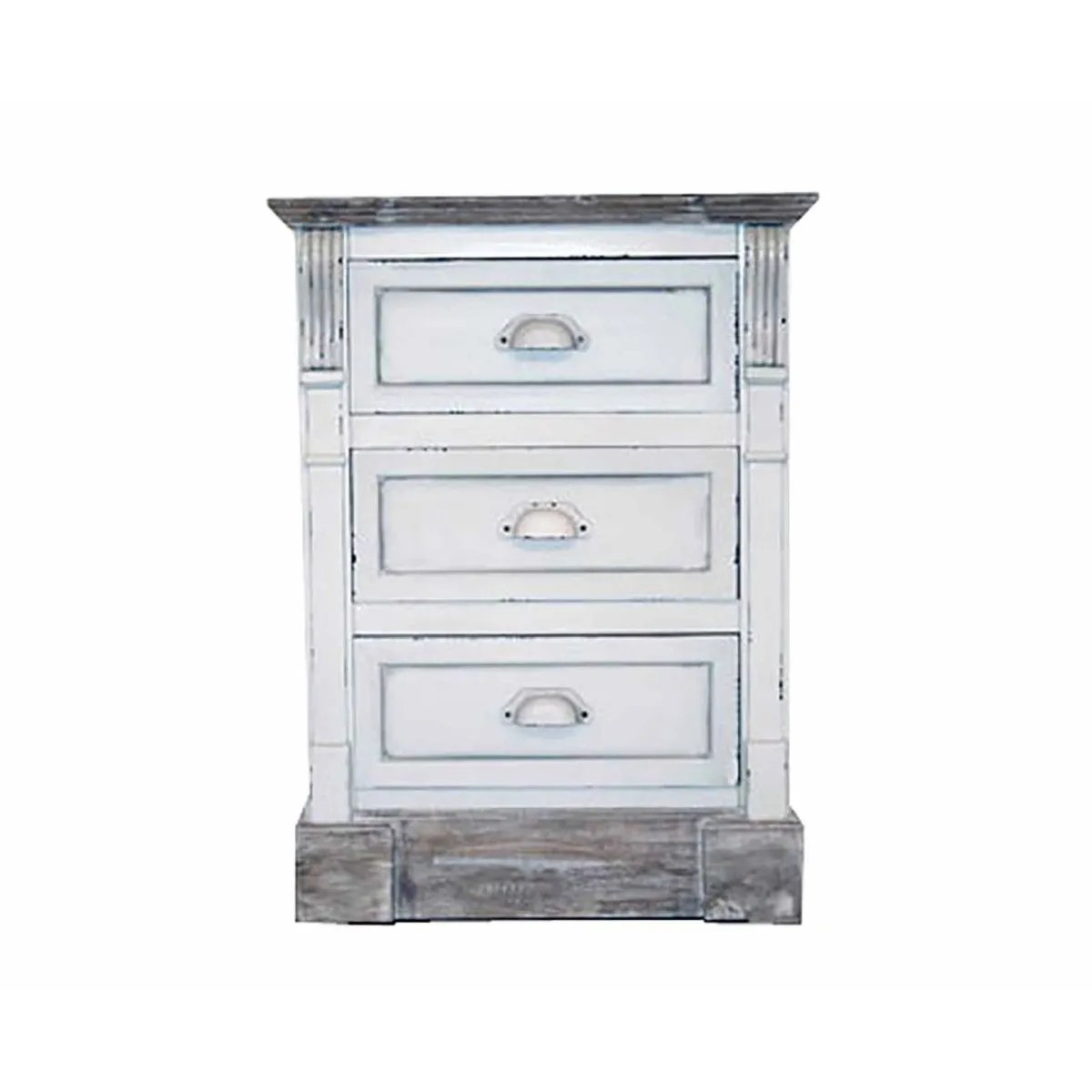 Charles Bentley Shabby Chic 3 Drawer Bedside Table Ebay