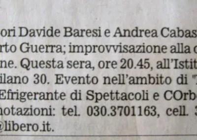 Giornale di Brescia 19 agosto 2009 p. 20