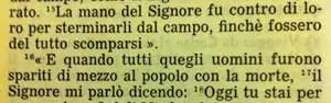 La Sacra Bibbia, Deuteronomio 2, 15-17