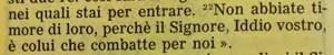 La Sacra Bibbia, Deuteronomio 3, 22