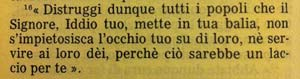 La Sacra Bibbia, Deuteronomio 7, 16