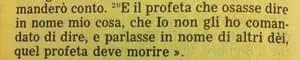 La Sacra Bibbia, Deuteronomio 18, 20