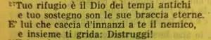La Sacra Bibbia, Deuteronomio 33, 27
