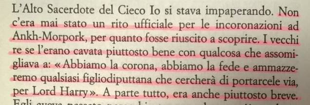 A me le guardie - Terry Pratchett - pag 234