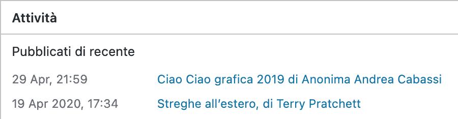 Ciao Ciao grafica 2019 di Anonima Andrea Cabassi