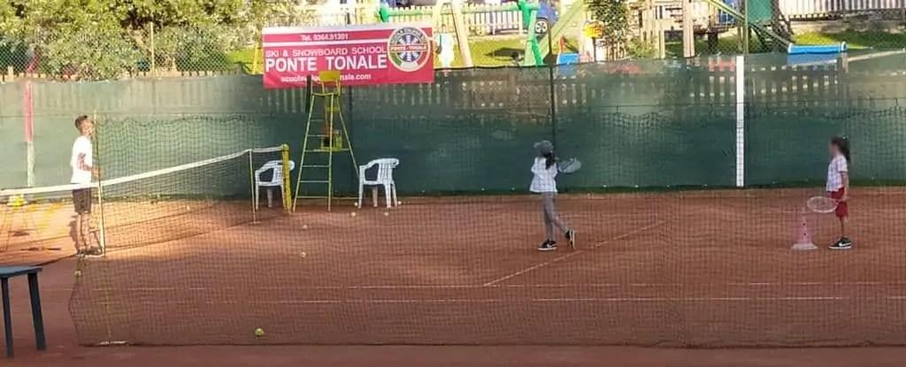 Prima lezione di tennis
