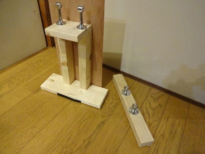 木材を使ったロードエンド置台