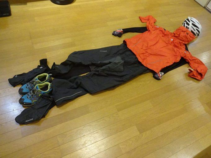 雨天走行時の服装