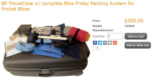 BF TravelCase w/ complete Bike Friday Packing System for Pocket Bikes