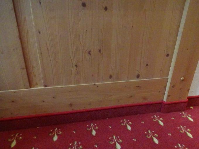 木材の壁面