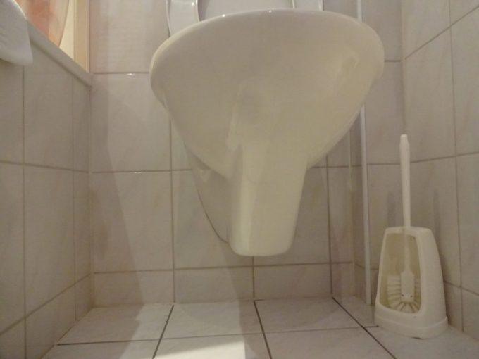 トイレの汚水は壁面排水
